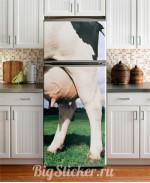 Наклейка на холодильник Вымя Z026