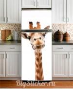 Наклейка на холодильник Жираф Z001