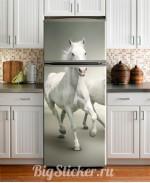Наклейка на холодильник Лошади Z018