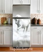 Наклейка на холодильник Лошадь Z023