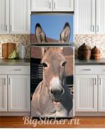 Наклейка на холодильник Ослик Z031