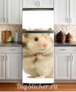 Наклейка на холодильник Хомяк Z004