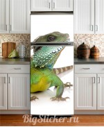 Наклейка на холодильник Ящер Z016